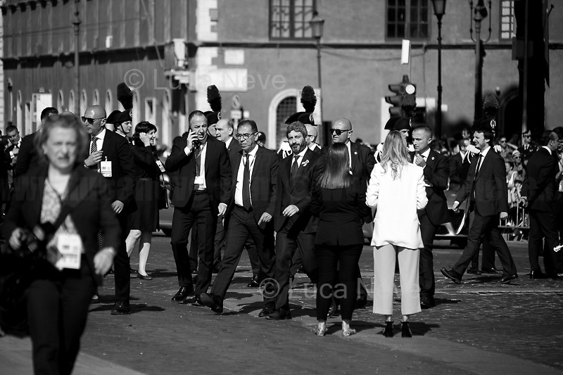 """Roberto Fico (President of the Chamber of Deputies).<br /> <br /> Rome, 02/06/2019. Today, Italy celebrated the annual """"Festa Della Repubblica"""" (Republic Day, 1.). The 73rd Anniversary of the Italian Republic (*) was marked with the """"Raising the Flag Ceremony"""" and the tribute to the Sacello del Milite Ignoto (Unknown Soldier) at the Altare della Patria """"Vittoriano"""" (2.) by the President of the Italian Republic Sergio Mattarella, followed by the traditional army, veterans and civilians parade along Via Dei Fori Imperiali. This year, the President of the Republic was accompanied by the Defence Minister Elisabetta Trenta, the Italian Prime Minister Giuseppe Conte, the Presidents of the two Chambers of the Parliament, Roberto Fico and Maria Elisabetta Alberti Casellati, several members of the Italian Government, political leaders, senior officers of the Armed Forces and representatives of the Civilian Organizations. At the end of the events the Frecce Tricolori, the Italian Aerobatic Team, coloured the sky over Rome with the Tricolore (Tricolour: Green, White, Red) of the Italian Flag. The theme for this year's event was inclusiveness. <br /> <br /> Footnotes and Links:<br /> (*) The Referendum was held on 2 June 1946 and it marked the decision made by the Italian people to adopt the Republic as the new institutional form for the Country. <br /> 1. http://bit.do/eT8By (ITA) & http://bit.do/eT8Bv (ENG) at https://www.difesa.it/<br /> 2. http://bit.do/eT8BG (Wikipedia)"""