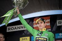 Time Trial stage winner Wout Van Aert (BEL/Jumbo-Visma) on the podium<br /> <br /> Stage 4 (ITT): Roanne to Roanne (26.1km)<br /> 71st Critérium du Dauphiné 2019 (2.UWT)<br /> <br /> ©kramon