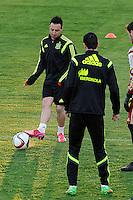 Spanish National Team's  training at Ciudad del Futbol stadium in Las Rozas, Madrid, Spain. In the pic: Santi Cazorla. March 25, 2015. (ALTERPHOTOS/Luis Fernandez) /NORTEphoto.com