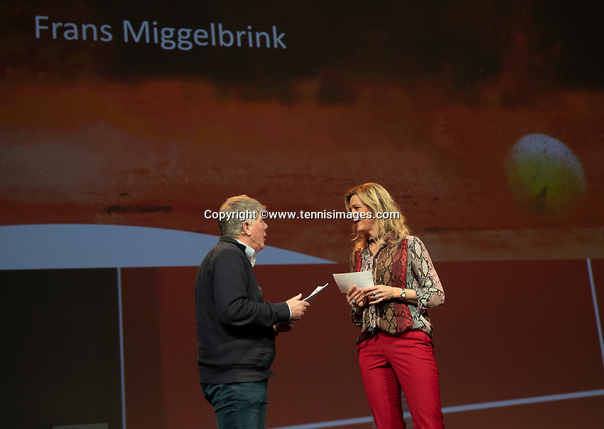 Nieuwegein, Netherlands, November 23,  2019, MBC Congrescentrum, KNLTB Year Congres , Frans Miggelbrink with Kristie Boogert<br /> Photo: Tennisimages/Henk Koster