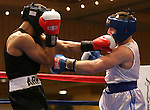 Nevada's Tristan Harriman defeats Army's Cody Dillard during a National Collegiate Boxing Association bout at the El Dorado Casino in Reno, Nev. on Friday, Feb. 5, 2016. <br /> Photo by Cathleen Allison
