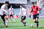 Muangthong United Forward Cleiton Silva (r) is chased by FC Seoul Defender Kim Dong Woo (l) during the 2017 Lunar New Year Cup match between Muangthong United FC and FC Seoul on January 31, 2017 in Hong Kong, Hong Kong. Photo by Marcio Rodrigo Machado / Power Sport Images