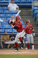 Altoona Curve right fielder Connor Joe (6) at bat during a game against the Binghamton Rumble Ponies on May 17, 2017 at NYSEG Stadium in Binghamton, New York.  Altoona defeated Binghamton 8-6.  (Mike Janes/Four Seam Images)
