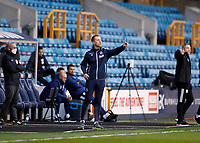 21st November 2020; The Den, Bermondsey, London, England; English Championship Football, Millwall Football Club versus Cardiff City; Millwall Manager Gary Rowett giving instructions to his players from the touchline