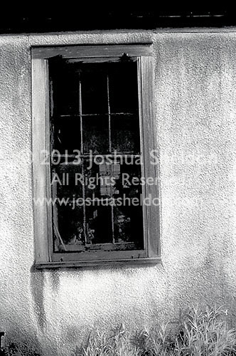 Window of abandoned building<br />