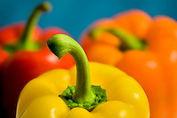Various colored bell peppers