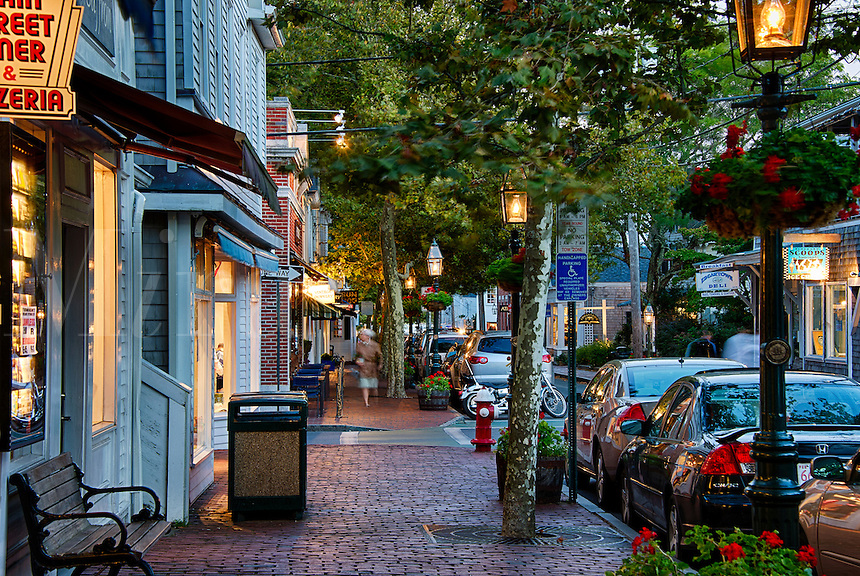 Main Street, Edgartown, Martha's Vineyard, Massachusetts, USA