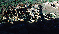 Mississippi archaeologist Robert Adams has suggested that  because of the high ratio of kiva to rooms that he believes cannot be easily explained by individual clan ownership suggests to him that the round kiva were actually used for corn storage much like silos are used today in the midwest.