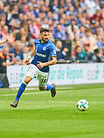 Daniel CALIGIURI, S04 Nr. 18  <br /> FC SCHALKE 04 -  BORUSSIA DORTMUND 2-0<br /> Football 1. Bundesliga , Gelsenkirchen,15.04.2018, 30. match day,  2017/2018 1.Bundesliga, BVB, S04, <br />  *** Local Caption *** © pixathlon<br /> Contact: +49-40-22 63 02 60 , info@pixathlon.de