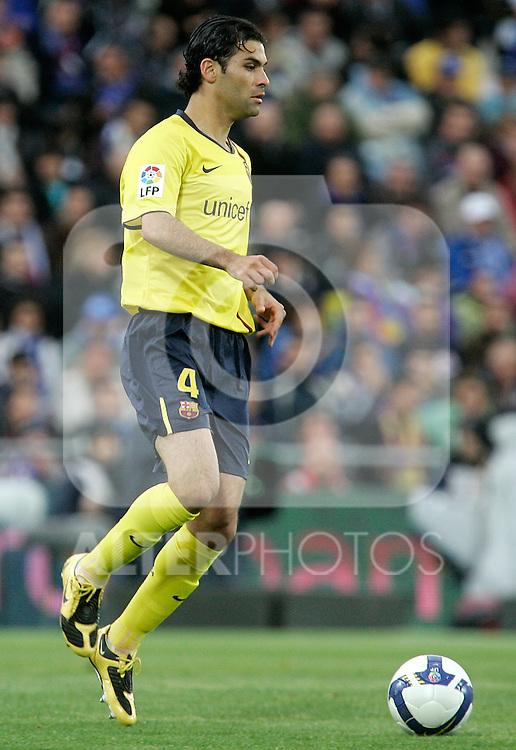 Barcelona's Rafa Marquez during La Liga match, April 18, 2009. (ALTERPHOTOS/Alvaro Hernandez).