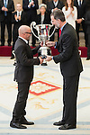 Jorge Sampaoli and King Felipe VI of Spain attends to the National Sports Awards 2015 at El Pardo Palace in Madrid, Spain. January 23, 2017. (ALTERPHOTOS/BorjaB.Hojas)
