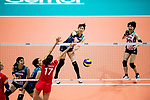 during the FIVB Volleyball World Grand Prix match between Japan vs Russia on 23 July 2017 in Hong Kong, China. Photo by Marcio Rodrigo Machado / Power Sport Images