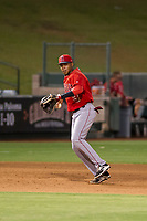 AZL Angels third baseman Julio Garcia (3) on defense during a game against the AZL Giants on July 9, 2017 at Diablo Stadium in Tempe, Arizona. AZL Giants defeated the AZL Angels 8-4. (Zachary Lucy/Four Seam Images)
