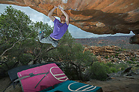 Ned Feehally in Rocklands, South Africa