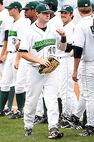 September 9 2008:  Jeremy Synan of the Jamestown Jammers, Class-A affiliate of the Florida Marlins, during a game at Russell Diethrick in Jamestown, NY.  Photo by:  Mike Janes/Four Seam Images
