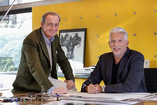 Carlo Nuvolari and Dan Lenard, founders of the Nuvolari Lenard Venetian design studio
