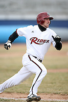 March 22nd 2009:  Second baseman A.J. Albee (2) of the Rider University Broncs during a game at Sal Maglie Stadium in Niagara Falls, NY.  Photo by:  Mike Janes/Four Seam Images