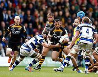 Photo: Richard Lane/Richard Lane Photography. London Wasps v Bath Rugby. Amlin Challenge Cup Semi Final. 27/04/2014. Wasps' Will Helu attacks.