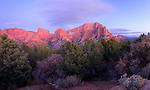 Utah, Southern, Zion National Park. Cliffs at sunset in the Kolob Canyon Area of Zion National Park.