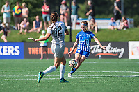 Boston, MA - Saturday June 24, 2017: Ashley Hatch and Christen Westphal during a regular season National Women's Soccer League (NWSL) match between the Boston Breakers and the North Carolina Courage at Jordan Field.
