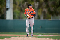 Baltimore Orioles pitcher Tyler Joyner (76) during a Minor League Spring Training game against the Tampa Bay Rays on March 16, 2019 at the Buck O'Neil Baseball Complex in Sarasota, Florida.  (Mike Janes/Four Seam Images)