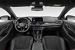 Stock photo of straight dashboard view of 2021 Hyundai i30-Fastback-N - 5 Door Hatchback Dashboard