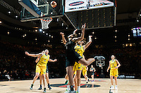 Melbourne, 15 August 2015 - Kalani PURCELL of New Zealand in action during  game one of the 2015 FIBA Oceania Championships in women's basketball between the Australian Opals and the New Zealand Tall Ferns at Rod Laver Arena in Melbourne, Australia. Aus def NZ 61-41. (Photo Sydney Low / sydlow.com)