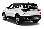 Car pictures of rear three quarter view of 2021 KIA Seltos SX 5 Door SUV Angular Rear