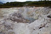 Sulphur Cave, Waiotapu Thermal Area, near Rotorua, north island, New Zealand.