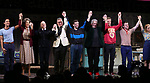 """Michael Hsu Rosen, Mercedes Ruehl, Richard Jackson, Moises Kaufman, Harvey Fierstein, Michael Urie, Ward Horton, Jack DiFalco and Roxanna Hope Radja  during the Broadway Opening Night Curtain Call for """"Torch Song"""" at the Hayes Theater on November 1, 2018 in New York City."""
