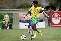 Noah Karunaratne of Lower Hutt AFC during the Central League Football - Petone FC v Lower Hutt AFC at Petone Memorial Park, Lower Hutt, New Zealand on Friday 2 April 2021.<br /> Copyright photo: Masanori Udagawa /  www.photosport.nz