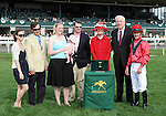 02 April 2010. Nordic Truce connections during the winners circle presentation at Keeneland.