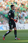 Betis goalkeeper Adan during the match between Real Betis and Recreativo de Huelva day 10 of the spanish Adelante League 2014-2015 014-2015 played at the Benito Villamarin stadium of Seville. (PHOTO: CARLOS BOUZA / BOUZA PRESS / ALTER PHOTOS)