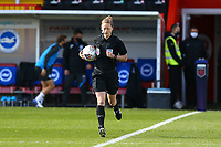 Referee Kirsty Dowle during Brighton & Hove Albion Women vs Arsenal Women, Barclays FA Women's Super League Football at Broadfield Stadium on 11th October 2020