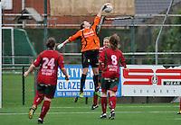 Dames Zulte - Waregem - RSC Anderlecht : Nele Cortvriend met de redding.foto DAVID CATRY / VROUWENTEAM.BE