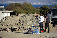 Pictured: Forensic archaeologists work at the second site in Kos, Greece. Saturday 15 October 2016<br />Re: Police teams led by South Yorkshire Police are searching for missing toddler Ben Needham on the Greek island of Kos.<br />Ben, from Sheffield, was 21 months old when he disappeared on 24 July 1991 during a family holiday.<br />Digging has begun at a new site after a fresh line of inquiry suggested he could have been crushed by a digger.