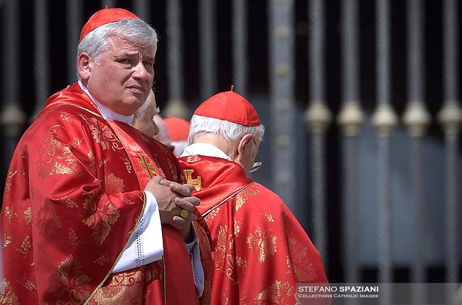 Cardinal Konrad Krajewski,St. Peter's Square in the Vatican during the Pentecost on June 9, 2019 Pope Francis   during  the Pentecost vigil on June 8, 2019