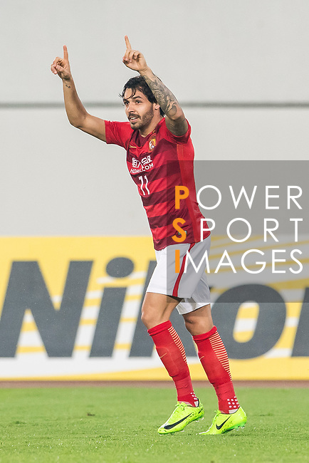Ricardo Goulart Pereira of Guangzhou Evergrande FC celebrates during their AFC Champions League 2017 Match Day 1 Group G match between Guangzhou Evergrande FC (CHN) and Eastern SC (HKG) at the Tianhe Stadium on 22 February 2017 in Guangzhou, China. Photo by Victor Fraile / Power Sport Images