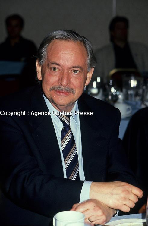 Montreal (Qc) CANADA, November 1994 File Photo -<br /> Parti Quebecois (PQ) Leader Jacques Parizeau .<br /> Photo by Pierre Roussel / Images Distribution