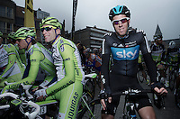 Mathew Hayman at the start..74th Gent-Wevelgem (2012).236km between Deinze & Wevelgem.winner 2012: Tom Boonen..