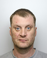 Pictured: Police custody picture of Christopher Kerrell.<br /> Re: Christopher Llewellyn Kerrell, 35, has been jailed for 25 years at Merthyr Crown Court after admitting murdering his wife Hollie Kerrell.<br /> The body of the 28 year old mother of three was found in April 2018, four days after going missing from her farm house home near Knighton, mid Wales.<br /> Kerrell, from Whitton near Knighton pleaded guilty at Merthyr Crown Court.<br /> The body of Ms Kerrell, also of Knighton, was discovered at a farm on Thursday.