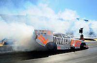 Jul. 29, 2011; Sonoma, CA, USA; NHRA funny car driver Brian Thiel during qualifying for the Fram Autolite Nationals at Infineon Raceway. Mandatory Credit: Mark J. Rebilas-