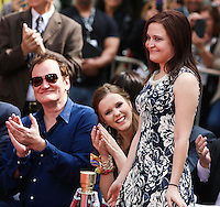 HOLLYWOOD, LOS ANGELES, CA, USA - APRIL 12: Quentin Tarantino, Danielle Sarah Lewis at the Jerry Lewis Hand And Footprint Ceremony during the 2014 TCM Classic Film Festival held at the TCL Chinese Theatre IMAX on April 12, 2014 in Hollywood, Los Angles, California, United States. (Photo by Xavier Collin/Celebrity Monitor)