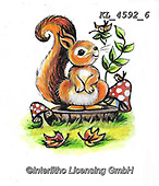 CUTE ANIMALS, LUSTIGE TIERE, ANIMALITOS DIVERTIDOS, paintings+++++,KL4592/6,#ac#, EVERYDAY ,sticker,stickers ,autumn,harvest