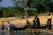 Rio Negro, Amazon, Brazil. Ribeirinhos fishing.