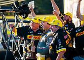 top fuel, Richie Crampton, DHL, victory, celebration, trophy, crew, Connie Kalitta