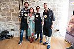 Julius, Sergio Fernandez and Juan Pozuelo during the presentation of the new season of Canal Cocina at Spring FesTVal 2017 in Burgos, Spain. March 30, 2017. (ALTERPHOTOS/BorjaB.Hojas)