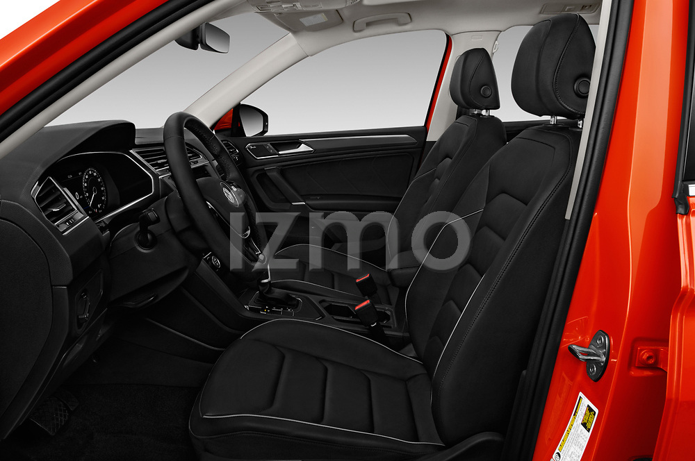 Front seat view of a 2018 Volkswagen Tiguan SEL 4Motion 5 Door SUV front seat car photos