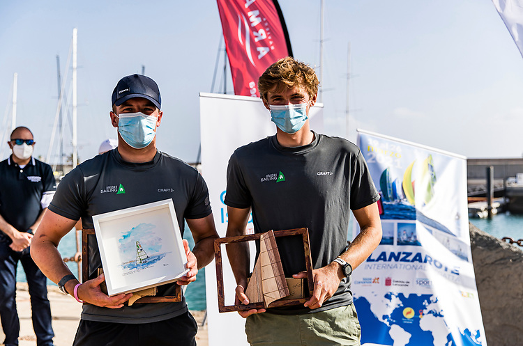 Sean Waddilove (left) and Robert Dickson a stand out performance in Lanzarote has landed them Olympic berths in the 49er skiff