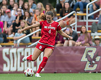 Newton, Massachusetts - October 7, 2018: NCAA Division I. Boston College (white) defeated NC State University (red), 2-0, at Newton Campus Soccer Field.